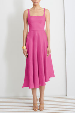 Crepe Scoop Neck Dress