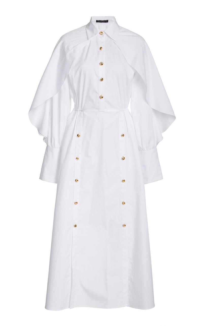 Caped Shirt Dress