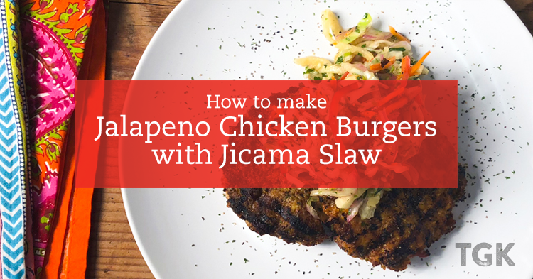 Jalapeño Chicken Burger with Jicama Slaw Recipe