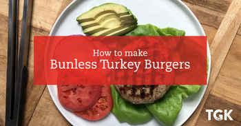 Bunless Herbed Turkey Burgers Recipe