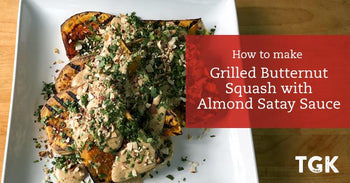 Grilled Butternut Squash with Almond Satay Sauce Recipe