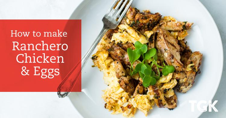 Ranchero Chicken and Eggs Recipe