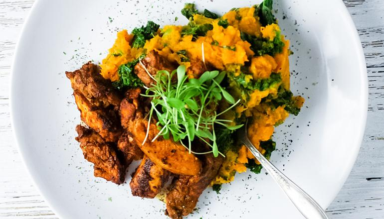 Chili Lime Chicken with Sweet Potatoes and Kale Recipe
