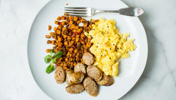 Sweet Italian Sausage Scramble with Sweet Potato Hash
