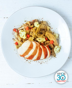Roasted Chicken Breast with Artichokes Barigoule: