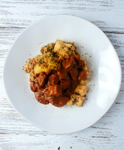 Chicken Tikka Masala with Spiced Potatoes: