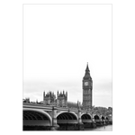 Indlæs billede til gallerivisning london plakat med big ben og westminster bridge