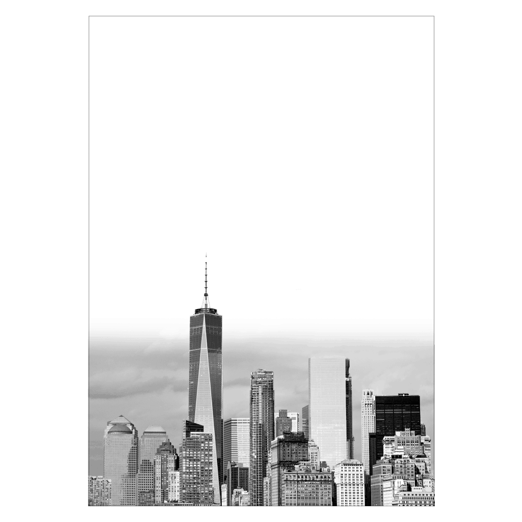 new york plakat med manhattan skyline