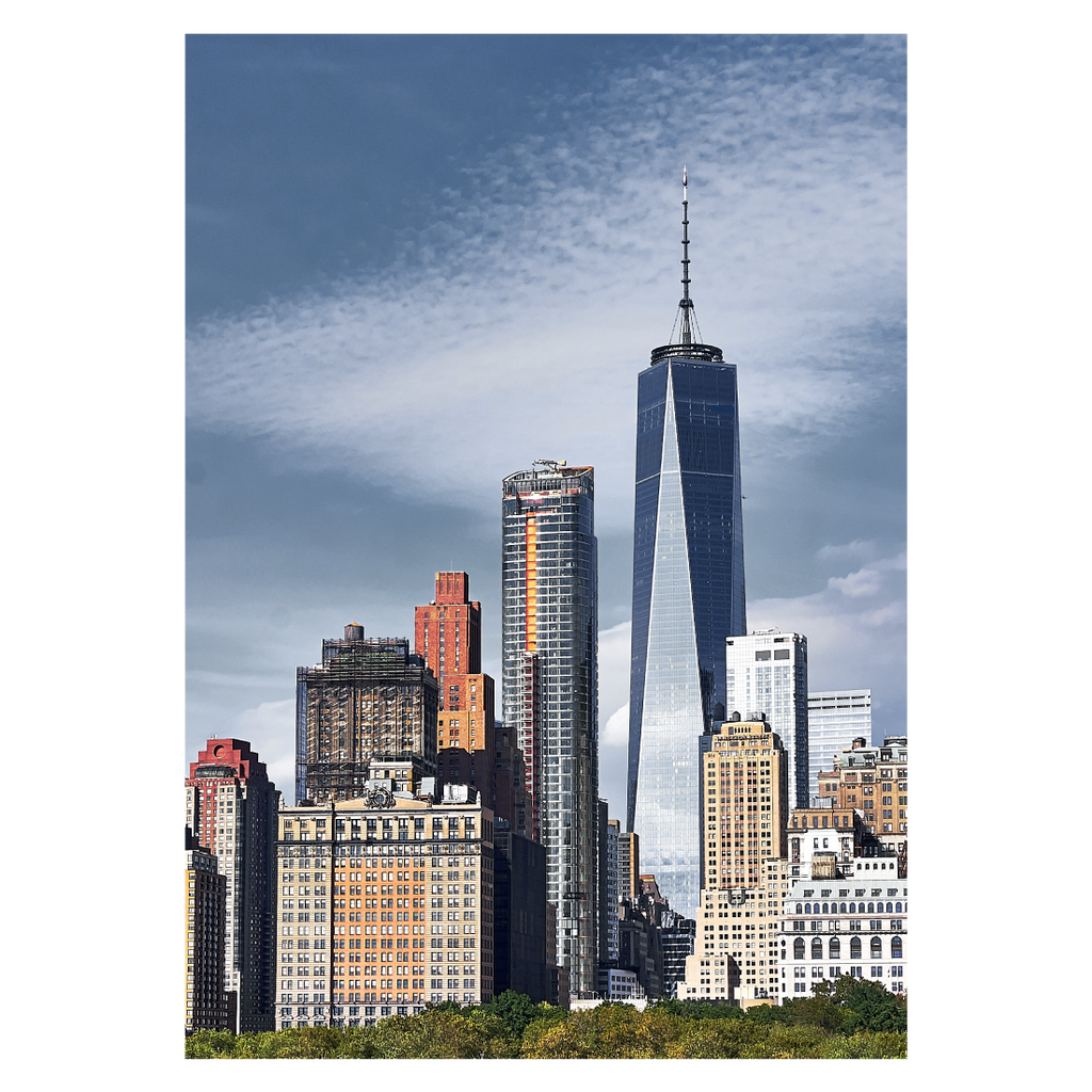 New York plakat med skyskraberne Downtown Manhattan
