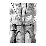 Ladda upp bild till gallerivisning, sort hvid new york plakat med brooklyn bridge