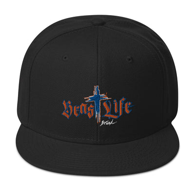 Flat Brim Snapback Hat - Dark colors / BeastLIFE Logo