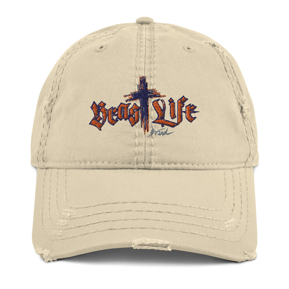 Distressed Look Hat - BeastLIFE Logo