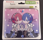 Re:Zero Twins Zipper Wallet