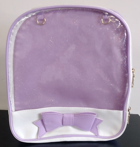 Translucent Lolita Style backpack White/Purple
