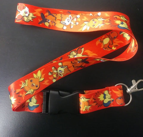 Lanyard Pokemon Fire Starters