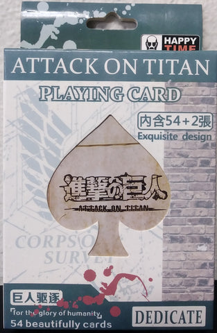 Poker Deck Attack on Titan Deck