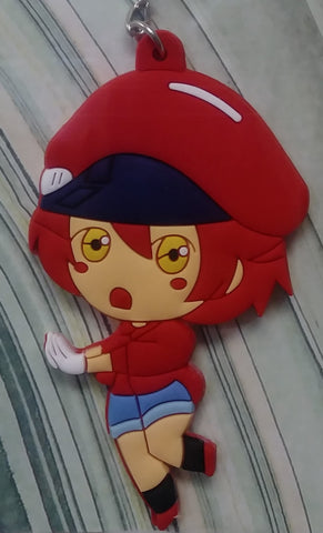 Keychain Cells at Work Rubber Red Blood Cell