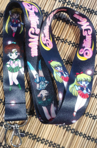 Sailor Moon Black Lanyard