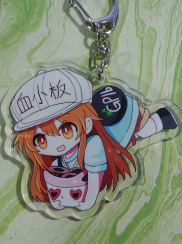 Cells at Work Platelets Acrylic Keychain