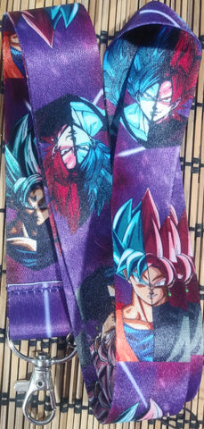 Dragon Ball Super Goku & Goku Black Lanyard