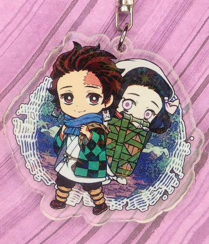 Demon Slayer Tanjiro and Nezuko Acrylic Keychain