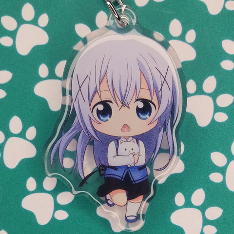 Is The Order A Rabbit? Chino ANIMEinU Keychain