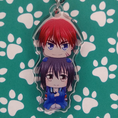 Outlaw Star Gene and Melfina ANIMEinU Keychain