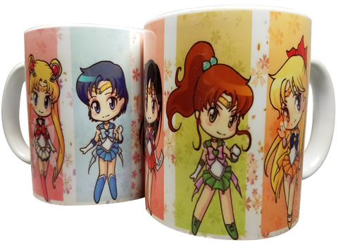 Mug Sailor Moon Chibi Main Cast