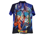 Collar-Shirt Dragon Ball Goku Vegita With Gods
