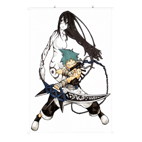 Wall Scroll Soul Eater Black Star and Tsubaki