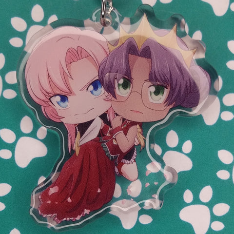 Revolutionary Girl Utena Anthy and Utena ANIMEinU Keychain