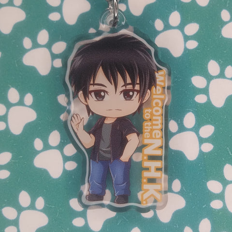 Welcome to the NHK Satou ANIMEinU Keychain