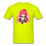 Shana T-Shirt Black ANIMEinU - safety green