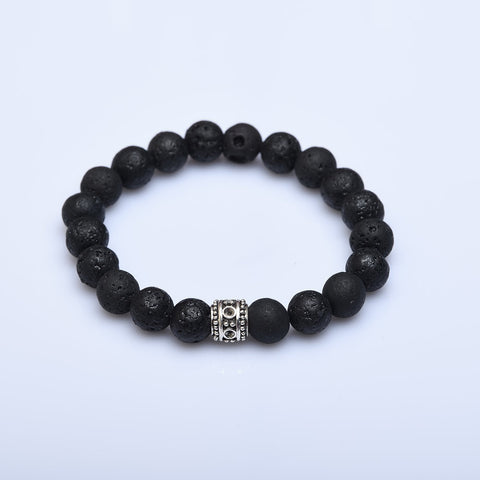 Be Calm Volcanic Lava Bead Bracelet - Now Chase the Sun