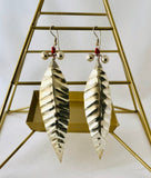 Silver Dhokra Leaf Earrings - Now Chase the Sun