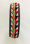 Beaded leather dog collar from Kenya