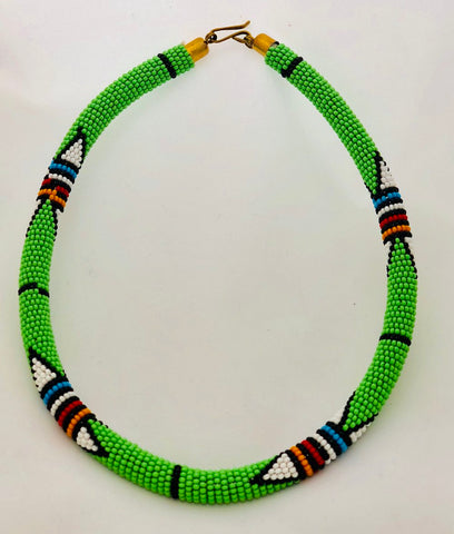 Naruki Maasai Collar Necklace - Now Chase the Sun