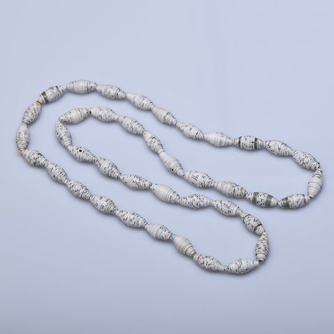 Salvage White Quilled Paper necklace - Now Chase the Sun
