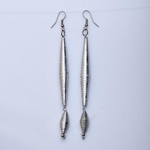 Salvage Silver Quilled Earring - Now Chase the Sun
