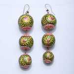 Zola Long Mughal Mural Hand Painted Seed Earrings - Now Chase the Sun