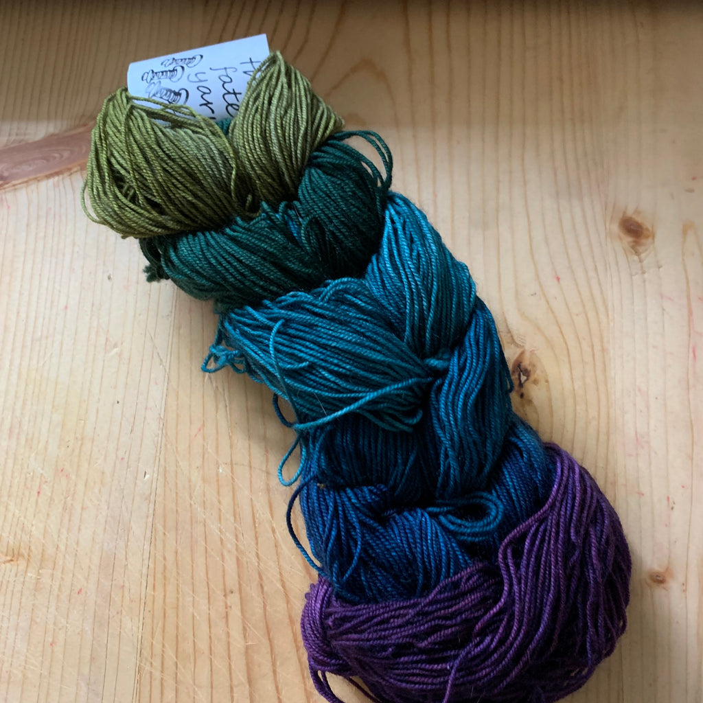green to purple color changing mini skein sets