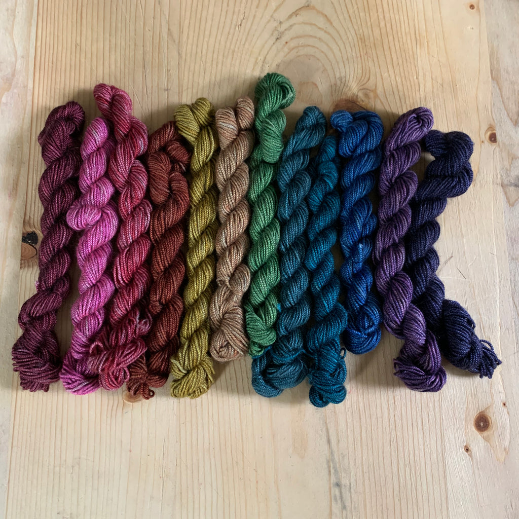 Small Helios Rainbow Mini Skein Set
