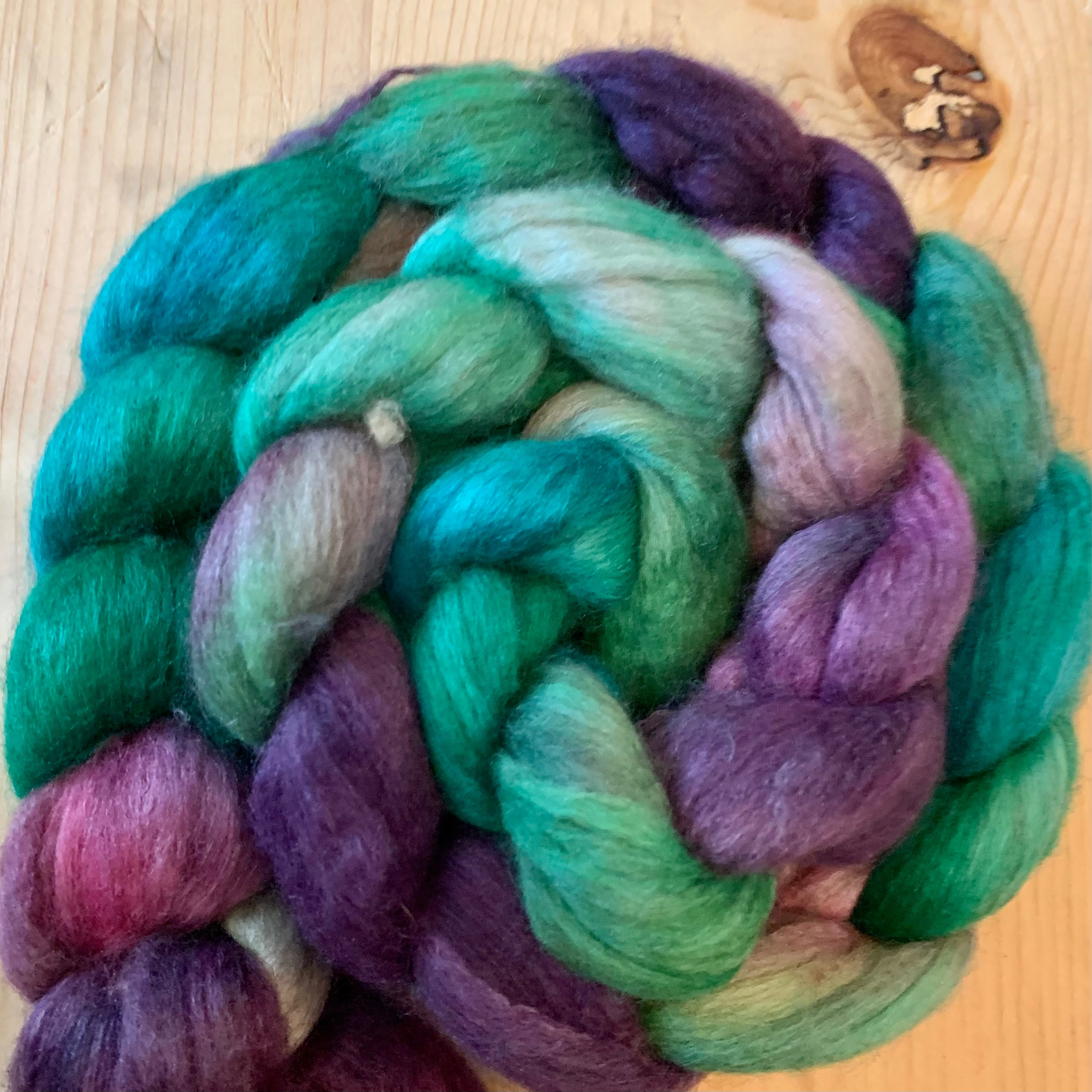 Merino, Yak, and Silk Fiber