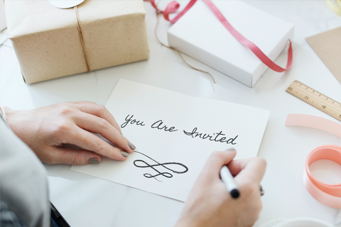 Writing you are invited on letters