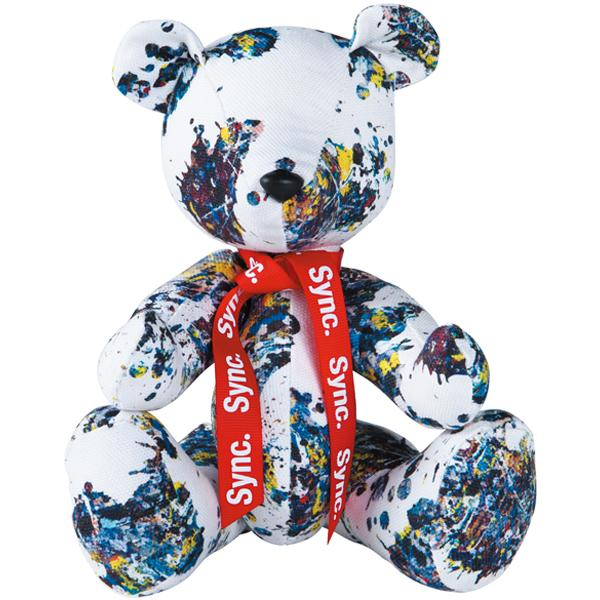 "Sync. Jackson Pollock Studio (SPLASH) SERIES TEDDY BEAR ""SPLASH"""