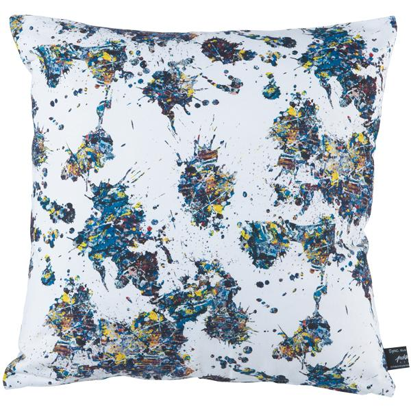 "Sync. Jackson Pollock Studio (SPLASH) SERIES SQUARE CUSHION ""SPLASH"""