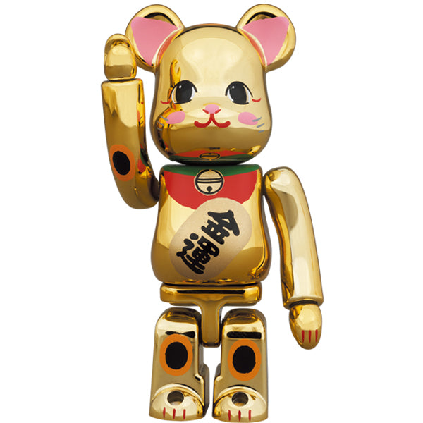BE@RBRICK Maneki Neko Gold Fortune Gold Plating 2 100%