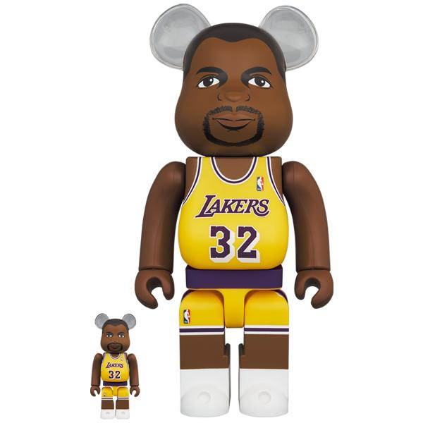 BE@RBRICK Magic Johnson (Los Angeles Lakers) 100% & 400%《2021年6月発売・発送予定》