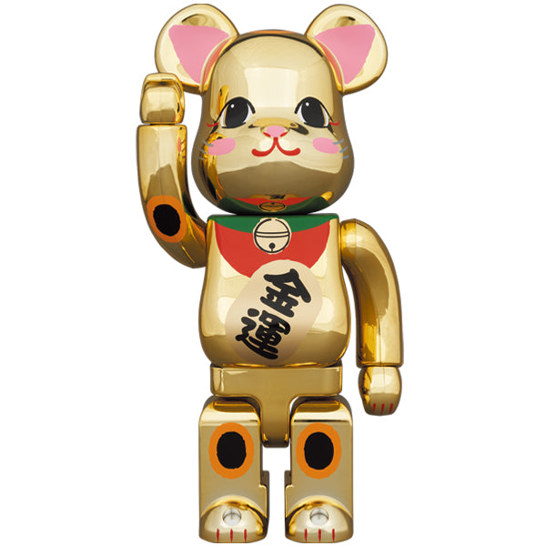 BE@RBRICK Maneki Neko Gold Fortune Gold Plating 2 400%
