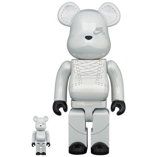 BE@RBRICK NIKE SB 2020 WHITE 100% & 400%